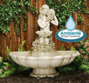 Fontaine ext rieur jardin figurine ivoire d coration statue for Decoration fontaine exterieur