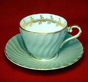 Aynsley Cup Saucer Green