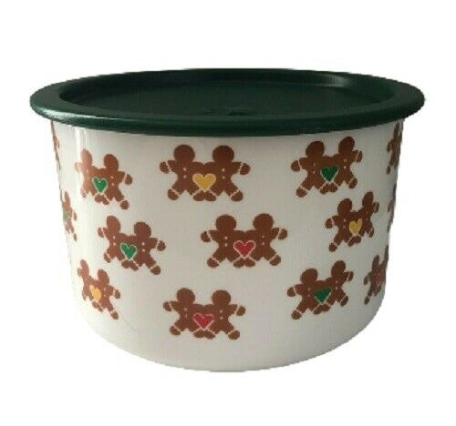 Rare Vintage One Touch Tupperware Container Gingerbread Christmas Design