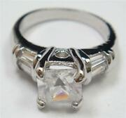 Diamonique Engagement Ring