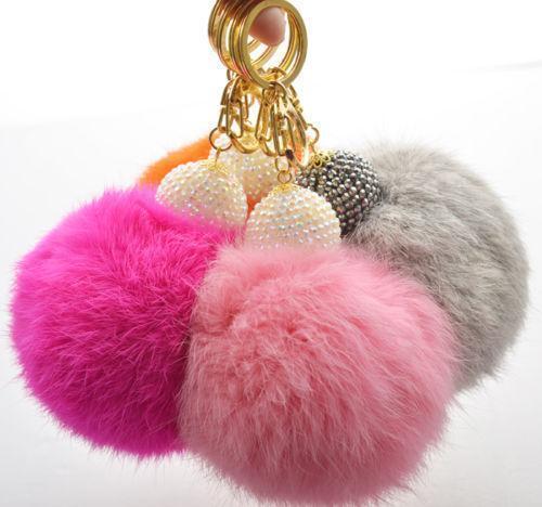 Fur Ball Keychain  Clothing f2726a4aac