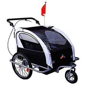 3 IN 1 Baby Bike Trailer Folding Stroller Jogger Bicycle Kids