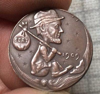 Hobo Nickel 1909 Traveler Lincoln Penny COIN