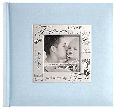 Baby Boy Photo Album 200 Pocket Blue Picture Memory Book Organizer Newborn Gift