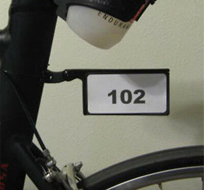 Triathlon race number holder for sticker style race numbers by Smartmount