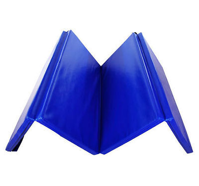 New Four Folding Gymnastics Mats Thick Exercise Gym Fitness Physio Pilates 6FT