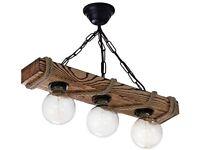 Handmade Solid Pine Tree Chandelier Rustic Aged Wood Ceiling Pendant Light