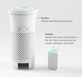 Wynd - The smartest portable air purifier for your personal space (White Wynd) - App Based Air
