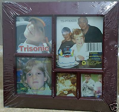 """Picture Frame 9"""" x 9 1/2""""~~5-Slots~Wood~Frame"""