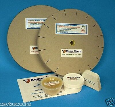 RAZOR SHARP EDGEMAKING SYSTEM SHARPENING WHEELS  6 INCH X 3/4 INCH