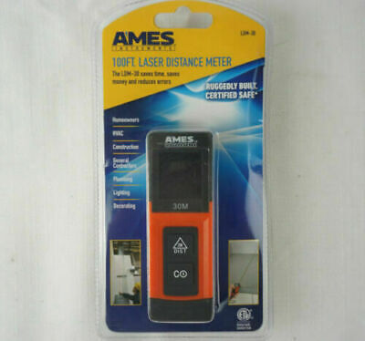 Ames 100ft. Laser Distance Meter Ldm-30 - Brand New Free Shipping