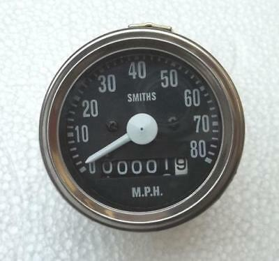 60 MM TRIUMPH T20 CUB Speedometer (Replica -80421/19/2 ) Chrome Bezel for sale  Shipping to Canada
