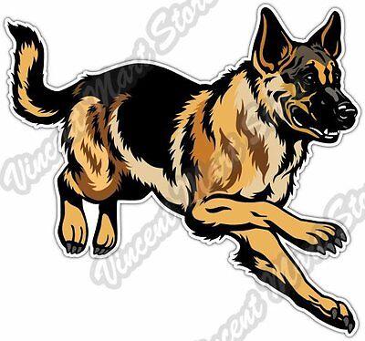(Cute German Shepherd Dog Breed Pet Car Bumper Window Vinyl Sticker Decal 5