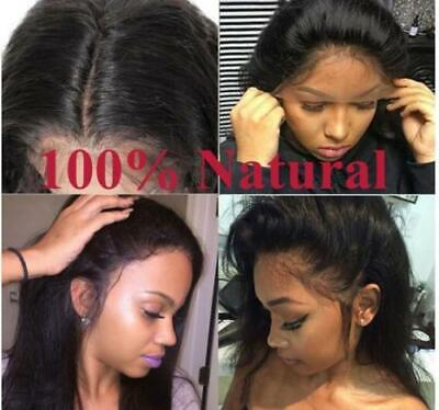 Brazilian Virgin Human Hair Full Lace Wig Straight Lace Front Wig Bleached Knots