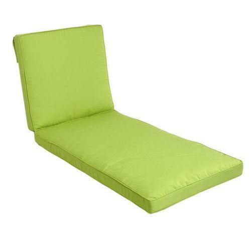 Outdoor lounge chair cushions ebay for Chaise cushion covers