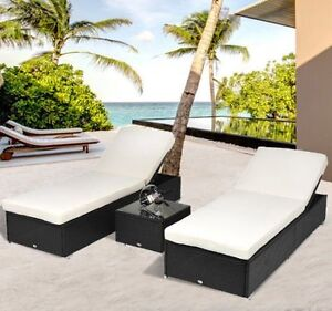 Luxury lounger set.   3 pcs.