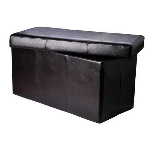 Pink Fairy Wishes Bench Seat With Storage Toy Box Seating: Black Storage Ottoman