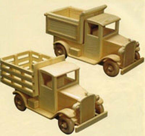 PLAN / INSTRUCTIONS Antique Trucks  Woodworking Blueprint Plan