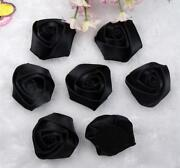 Ribbon Roses Black
