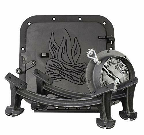 Barrel Stove Kit Door Leg Steel Drum Wood Heater Fireplace C