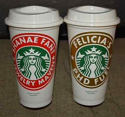 Personalized Cups With Lids (Personalized 16oz Reusable Starbucks Cup with)