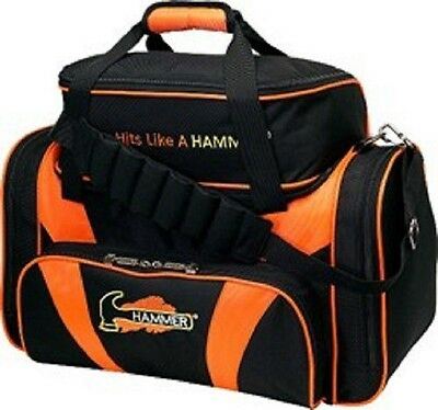 Hammer Deluxe Double Black/Orange 2 Ball Bowling Bag