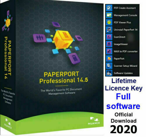 Nuance PaperPort 14.5 Professional scanning converting edit documents Orignal 🔐