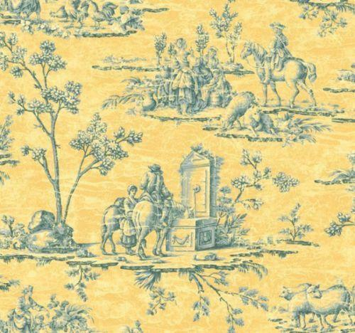French Toile Wallpaper Ebay