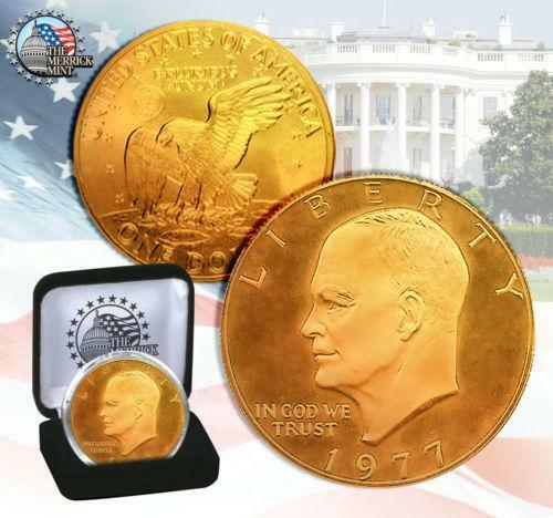 Gold Plated Eisenhower Dollar Ebay
