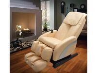HOMCOM Reclining Full Body Massage Chair W/Heat-Cream