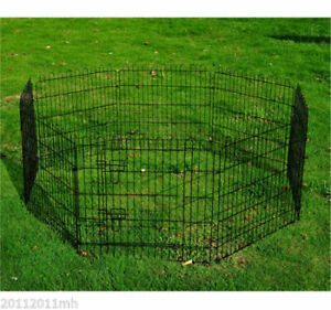 "8-Panel Pet Playpen Metal Indoor/Outdoor Exercise Dog 30"" Crate"