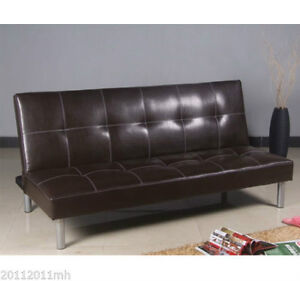 Futon Couch Sofa Bed Convertible Sleeper Lounge Brown
