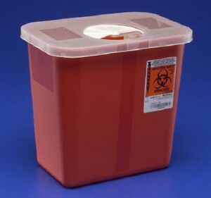 Sharps Disposable Biohazard Container, 2 Gallon, Red, 8970 - 1 PACK