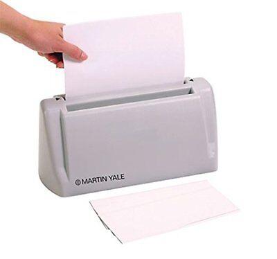Martin Yale Desktop Letter Folder Hand-fed Machine Folds 1 To 3 Sheets In