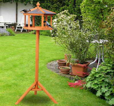 PawHut Garden and Backyard Bird Feeder Coop Table Station