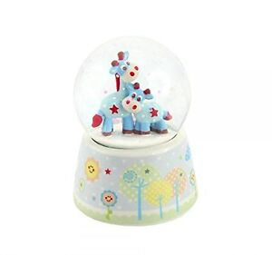 Little Sunshine Blue Giraffe Snow Globe Water ball  Baby Christening  LP27657
