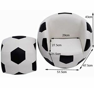 Kids Soccer Sofa Ball Chair Age 3 To 10 NEW