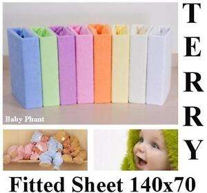 Terry-Towelling-Fitted-Sheet-140x70-Nursery-Baby-Cot-Cot-Bed-Mattress-Bedding