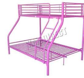 purple (not pink) double and single bunkbeds