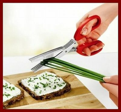 Kräuterschere mit 5 Klingen Küchenschere Schere