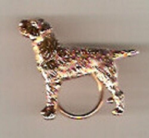 Border Terrier Gold Plated Eyeglass Holder Scarf Pin Jewelry*