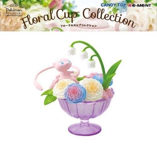 RE-MENT Pokemon Floral Cup Collection Miniature Toy Figure #6 Mew Flowers NEW
