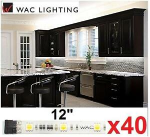 "40 NEW WAC LED LIGHT TAPES 12"" 3000K Soft White InvisiLED Tape Light Under-Cabinet Lights KITCHEN OFFICE 108744181"