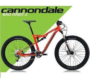 NEW* CANNONDALE 2017 MEN'S BIKE - 123389665 - BAD HABIT 2 BICYCLE XL 27.5