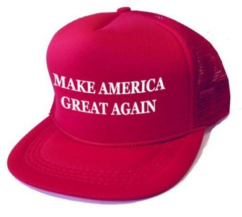 """Junior Kids 6-9 Red """"Make America Great Again"""" Trump MAGA Hat Baseball Cap New!"""