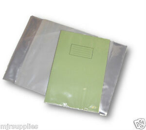 1-x-A4-SCHOOL-EXERCISE-BOOK-COVERS-298mm-x-425mm-clear-plastic-reusable