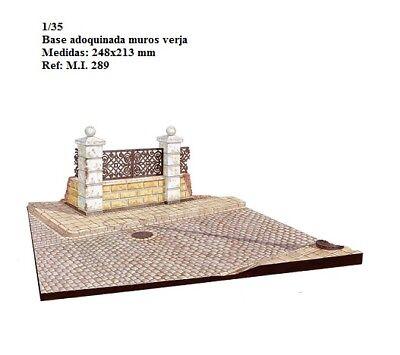 WWII street base calle adoquines muros piedra 1/35 accessories ruins building