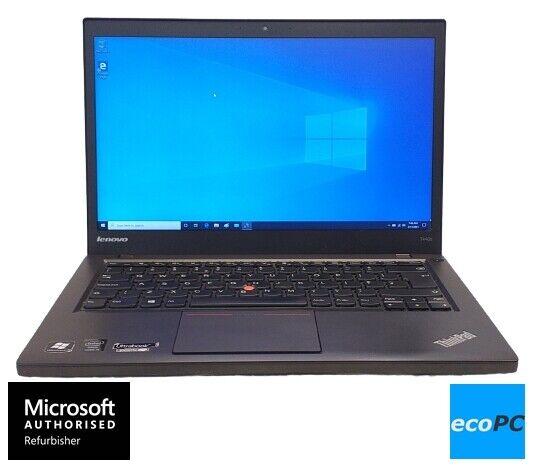 "Laptop Windows - Lenovo ThinkPad T440s Core i5-4300U 8GB 500GB HDD 14"" Windows 10 Laptop Grade B"