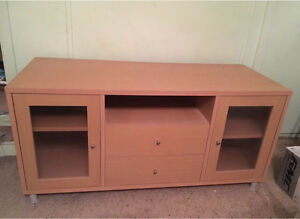 Light brown TV cabinet Greenacre Bankstown Area Preview