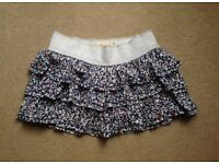 Hollister Floral Layer Mini Skirt Size M